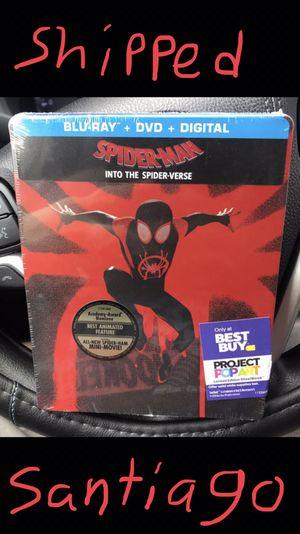Spider-Man into the spider verse steelbook for Sale in Huntington Beach, CA