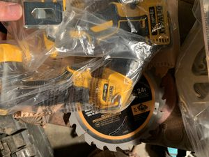 Brand new 6 piece dewalt 20v brushless xr combo kit and ,20v max combo impact hammer drill set both include batteries-chargers, carrying cases brand for Sale in Lafayette, IN