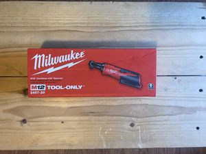 Milwaukee M12 12-Volt Lithium-Ion Cordless 3/8 in. Ratchet (Tool-Only) for Sale in Queens, NY