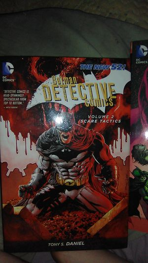 Batman detective comic(Volume 2 Scare Tactics) and Justice League comic(Volume 4 The Grid)(hardback,The New 52) for Sale in Columbus, OH