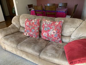 3 seater microsuede couch / sofa for Sale in Seattle, WA
