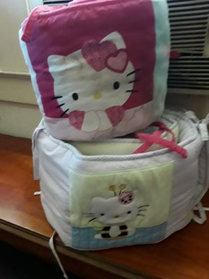 Hello kitty crib bumpers for Sale in Fresno, CA