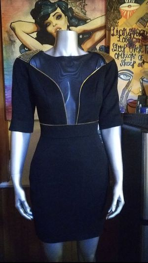 Temperley London Sexy mesh & gold zipper Rock Dress! Size Small for Sale in Glendale, CA