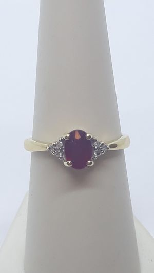 14k yellow gold Ruby & Diamond Ring 1.9 grams size 7 for Sale in Fort Pierce, FL