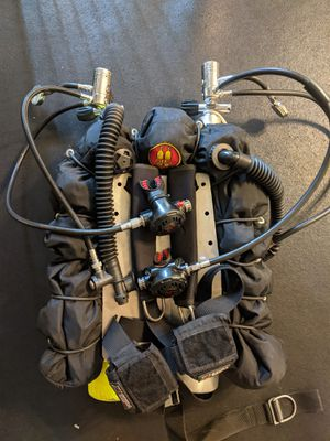 OMS Doubles Scuba Backplate with a pair of HOG D1 regulators for Sale in Los Angeles, CA