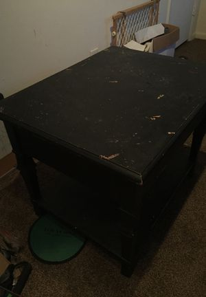 Small table with drawer and shelf $10 obo for Sale in Norfolk, VA
