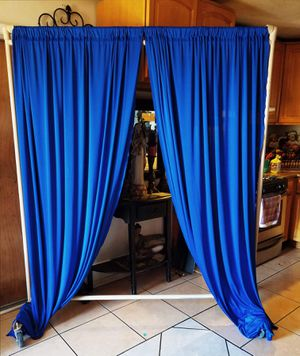 ✨Backdrop curtains Set $20.00 size 10ftx10ft New set Serious buyers PLEASE👍 Metal stand Not include 🌟🌟🌟🌟 for Sale in Fontana, CA