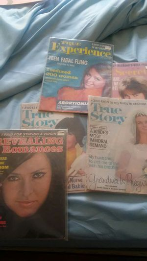 Vintage romance magazines and well reserved for Sale in Bloomington, IL