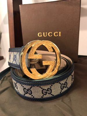 Gucci Black Trim GG Supreme Belt *Authentic* for Sale in Queens, NY