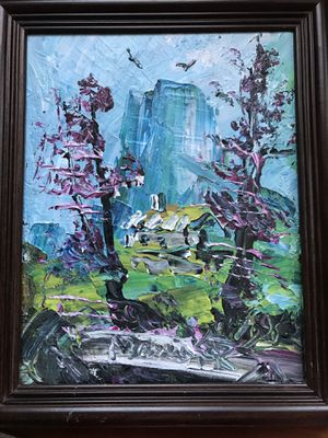 Original authentic landscape oil painting by famous Morris Katz for Sale in Silver Spring, MD