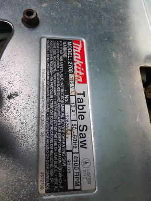 Makita table saw no legs for Sale in Oklahoma City, OK