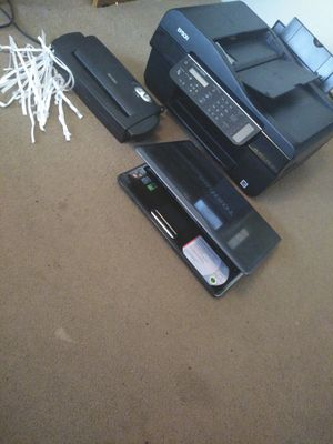 Toshiba laptop satellite m30 50 - 54831 an Epson stylus NX305 copier fax printer scanner and a-6 sheet shredder for Sale in Hallsville, TX