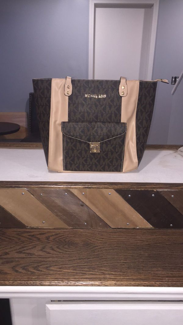Michael Kors bag Large tote Mk monogram purse