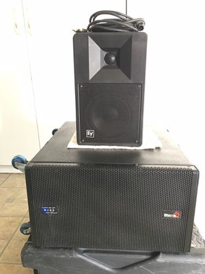 Biema IVA professional Sound USA SUB woofer EV compact monitor DJ equipments speakers .$350 for Sale in Norwalk, CA