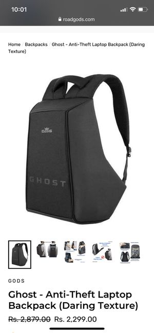 Ghost - Anti-Theft Laptop Backpack for Sale in Pawtucket, RI