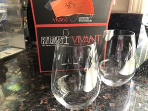 Riedel Wine Glasses - two merlot and six white for Sale in Redwood City, CA
