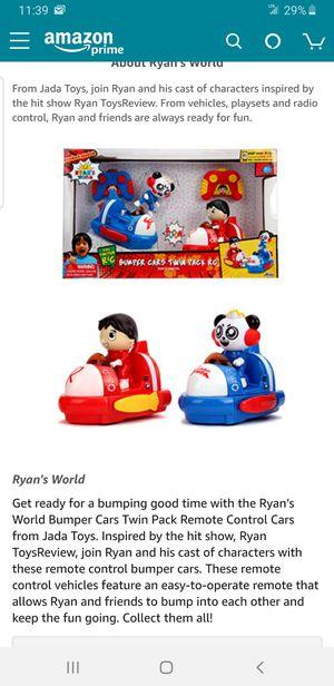 Brand new Ryan's world remote control bumper cars for Sale in Selma, CA