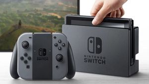 Nintendo Switch- gray controllers with case for Sale in Orem, UT