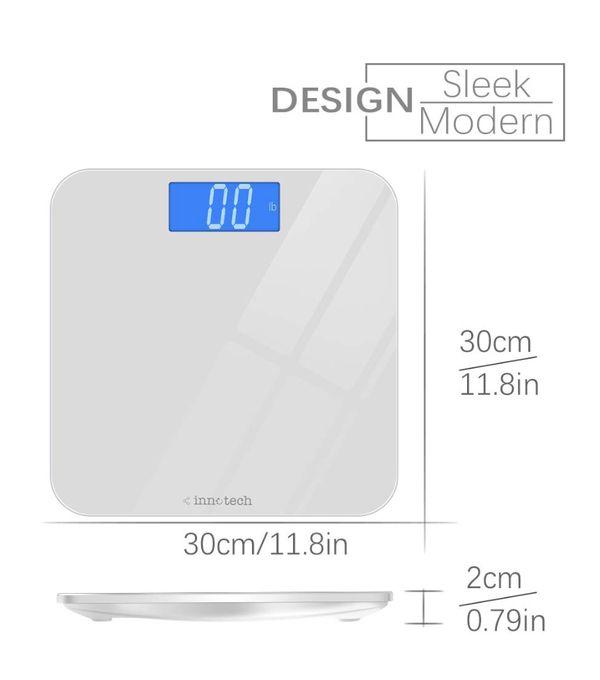 Innotech digital bathroom scale- white