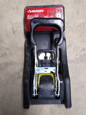 Husky 10 Foot X 1 7/8 Inch Retractable Ratchet Strap for Sale in Knightdale, NC