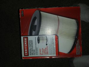 Craftsman vaccum filter for Sale in Quincy, IL
