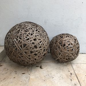 wicker sphere for ornament for Sale in Miami, FL