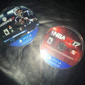 Madden 18 & NBA 2k17 for Sale in Washington, DC