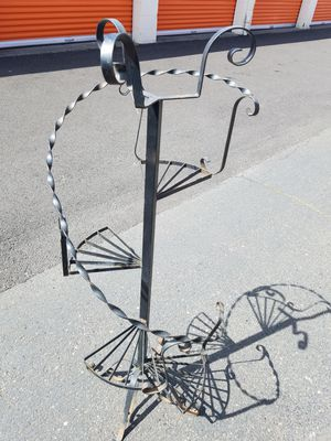 Metal tiered spiral plant stand for Sale in Fairview, OR