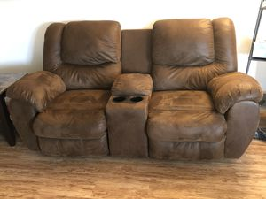 Reclining Loveseat with Storage & Cupholders - $400 OBO!! for Sale in Kent, WA
