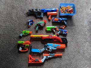 12 used nerf guns, and bullets for sale.. for Sale in Beavercreek, OR