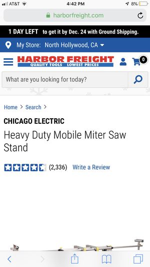 Heavy Duty Mobile Miter Saw Stand for Sale in Los Angeles, CA
