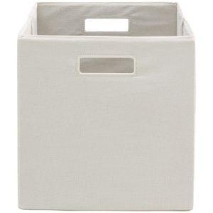 Set of 2 Fabric Cube Storage Bins Cream Size: 12.75 x 12.75 for Sale, used for sale  New York, NY