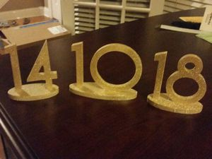 Wedding table numbers for Sale in Tampa, FL