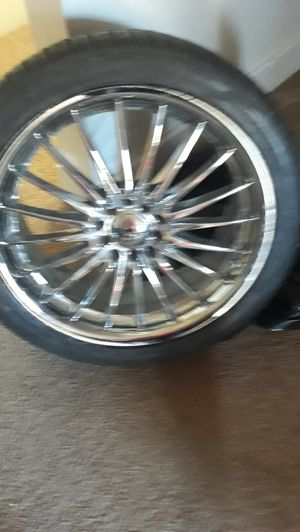 Rims and tires 19 inch universal came off a lexus is 250 for Sale in Lakewood, CO