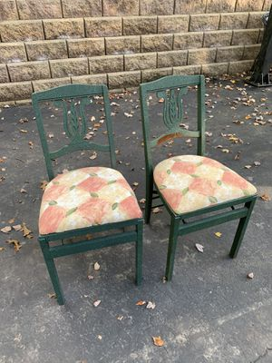2 wooden folding chairs for Sale in Broomall, PA
