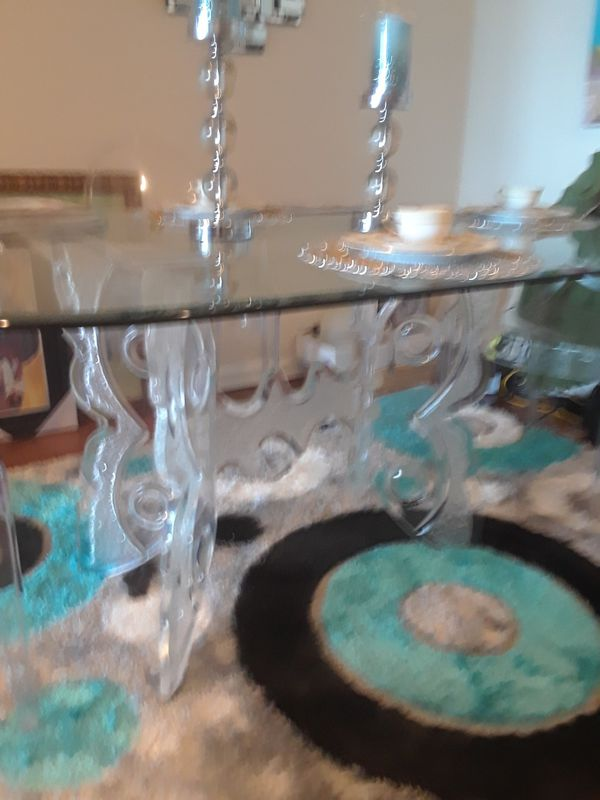 Acrylic Dining Table and 4 Chairs