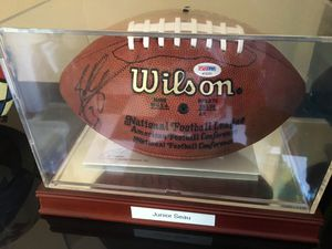 San Diego Chargers Autographed football Junior Seau COA for Sale in Chula Vista, CA