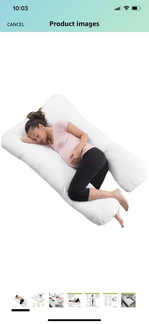 """COMFYSURE Pregnancy Pillow - 59"""" U Shaped Full Body Pillow for Maternity Support or Side Sleepers - Hypoallergenic, Comfortable Cushion for Pregnant for Sale in Raleigh, NC"""