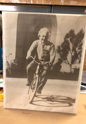 Vintage Einstein poster in plexi frame for Sale in Los Angeles, CA