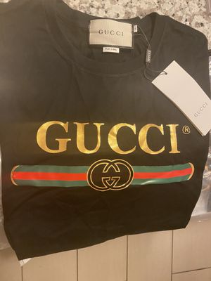 Gucci stripe logo men's shirt size XL runs small fits M/L for Sale in Haines City, FL