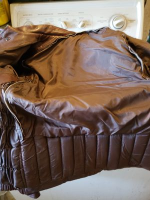 Size M Medium brown leather women's motorcycle jacket for Sale in Lakewood, CO