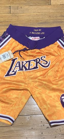 Lakers Bape Shorts for Sale in Los Angeles,  CA