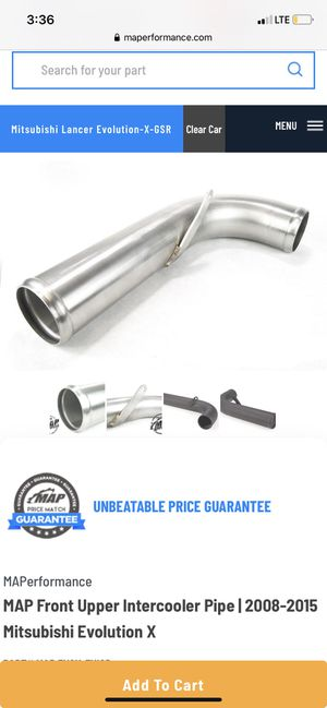 Evo x MAP intercooler piping for Sale in Garden Grove, CA