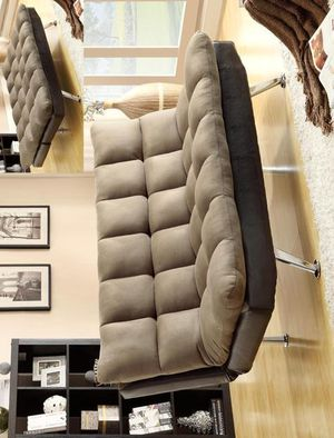3-6 Days Delivery 👉 Sundown Espresso/Pebble Adjustable Futon Sofa by Crown Mark for Sale in Jessup, MD