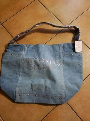 Victorias secret tote bag (denim) for Sale in Long Beach, CA