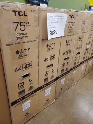 """TCL 75"""" 4K UHD Roku TV for Sale in Glendora, CA"""
