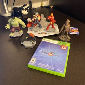 Disney Infinity Game, Figurines And Portal Base Pad For Xbox 360 for Sale in Glendale, AZ