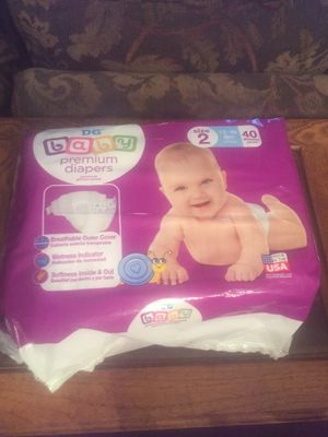 DG Baby diapers Size 2 (12-18 lbs) 40pk minus 2-3 for Sale in Germantown, MD