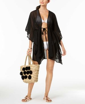 INC International Concepts Sheer Jacquard Tassel Cover-Ups – Black for Sale in Norfolk, VA