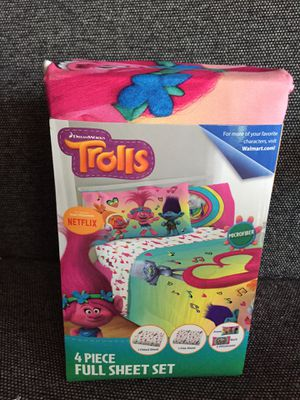 DreamWorks Trolls 4 pieces Full Sheet Set for Sale in Miami, FL